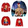 Donald Trump Make Christmas Great Again Sweater Top Jumper Sweatshirt Xmas Ugly