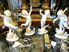 Four Figurines by Metzler & Ortloff Four Seasons Putti Porcelain Figures