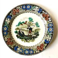 Creil Montereau Assiette  Faïence Polychrome De Paysans  Écossais XIXe N°5