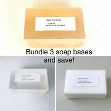 Hemp , Clear, Goats, Shea, Aloe, Olive Soap Base + free fragrance + 30 recipes