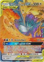 Moltres Zapdos Articuno GX 44/68 Hidden Fates Pokemon Card Holo Ultra Rare NM