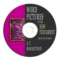 Word Pictures-New Testament A T Robertson-Bible Commentary Study-Ebook PDF on CD