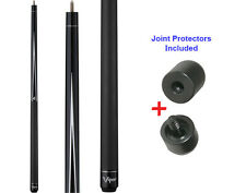Viper Diamond 50-0913 Black Stain Pool Cue Stick 18-21 oz & Joint Protectors