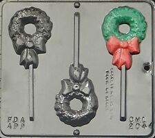 Wreath Lollipop Chocolate Candy Mold Christmas 2044 NEW