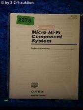 Sony Bedienungsanleitung CMT EX5 Component System  (#2275)
