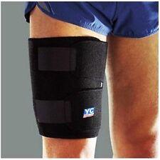 Adjustable Large Black Neoprene Thigh Support Brace Wrap Sleeve Gym Injury Sport