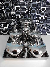 6tlg. Kerzenständer Set mit 4 Vase Kerzenhalter Keramik Neu