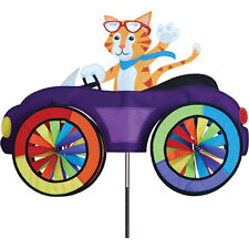 Cat in Fun Car Vehicle Staked Wind Spinner with Pole & Ground Mount PR 26752