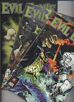 EVIL ERNIE 1.SERIE (deutsch) # 1VARIANT+2+3 KOMPLETT - CHAOS -MG PUBLISHING 1998