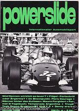 Powerslide Januar 1969 - London Sydney, Piers Courage, Repco Brabham, Forghieri