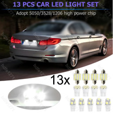 13PC 6000K Car LED Lights Interior Package Kit for Dome License Plate Lamp Bulbs