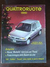Quattroruote n 446 dicembre 1992 - Mercedes 500SL, 600SL, BMW 520i
