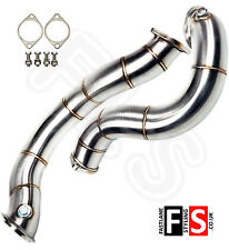 """BMW 1 SERIES E81 E82 135i STAINLESS STEEL EXHAUST 3"""" DOWNPIPE DECAT PIPE"""