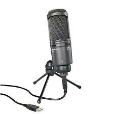 Audio Technica AT2020USB+ Cardioid Condenser Studio Microphone USB Mic Plus