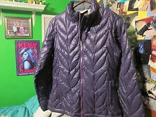 Women's Eddie Bauer Down Jacket, Size Medium, Purple