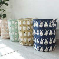 EE_ AM_ EG_ CARTOON BABY KID TOY STORAGE COTTON RABBIT ALPACA BAG LAUNDRY BASKET