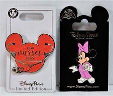 Disney Nurses Day 2019 Mickey Head Icon & Minnie 2 Pin Set LE 2000 NEW CUTE