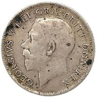 1915 SIXPENCE SILVER GEORGE V,  - GREAT BRITAIN Coin.KM#815