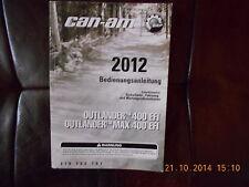 Fahrerhandbuch Betriebsanleitung  CAN-AM Outlander (TM) 400 EFI / MAX 400 EFI