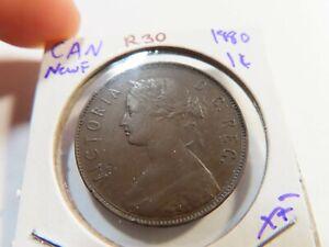 R30 Canada Newfoundland 1880 Large Cent XF