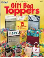Gift Bag Toppers | The Needlecraft Shop 844507 Plastic Canvas NEW! CLEARANCE!