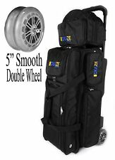 KAZE 3 Ball Deluxe Bowling Roller Tote Bag Double Smooth PU Wheels Spare Add On