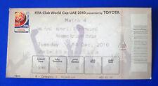 BIGLIETTO TICKET FIFA CLUB WORLD CUP 2010 MATCH 4 MAZEMBE-INTERNACIONAL