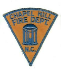 Chapel Hill (Orange Co.) NC North Carolina Fire Dept. patch - Nice! *Cheesecloth