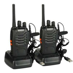 2x Baofeng BF-88E PMR446 Talkie Walkie 16CH 16CH with LED Torch Camping Hiking