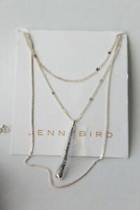 Jenny Bird  Pendant Double Chain Necklace Silver