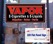 LED Sign 48x24 Vapor E  Cigarettes E Liquids supplies sales parts  window sign