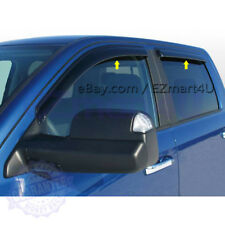 Fit 2009-2015 2016 2017 2018 RAM 1500 Crew Cab Window Visor Vent Rain Deflector