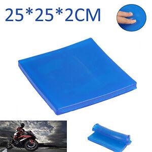 Motorcycle Gel Pad Seat Shock Absorption Mat Comfort Fiber Cushion 25*25*2cm