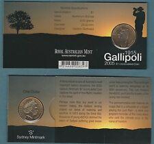 "Australia 2005 Gallipoli  ""S"" mintmark    $1...............           (Z)"