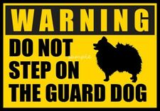 Pomeranian Warning Do Not Step Over Guard Dog Magnet 3 x 4 inches
