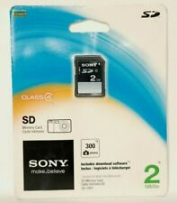 Sony 2GB SD Memory Card Class 4 for Cameras Brand NEW ON CARD 300 Photos