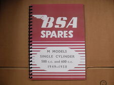 BSA M20,M21,M33 PARTS BOOK 1949 TO 1958 MODELS