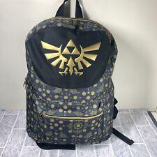 Zelda Allover Printed Backpack The Legend of Zelda Black & Gold Unisex