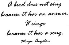 Mounted Rubber Stamps, Bird Stamps, Bird Quotes, Maya Angelou, Poetry, Birds