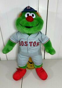⚾ Build a Bear Boston Red Sox Green Monster Mascot Wally Plush Gray Uniform ⚾