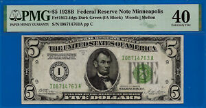 FR-1952-Idgs - 1928-B $5 FRN (( Highly Wanted - Minneapolis )) PMG 40 # 8714763