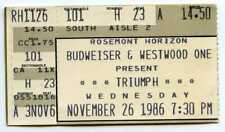 November 26 1986 Triumph & Bad Company Concert Ticket Stub Rosemont Horizon Il