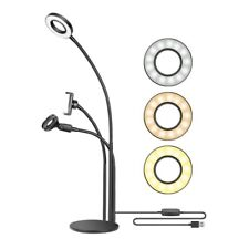 Lampada tonda led anello luminoso set completo tavolo youtube tiktok social