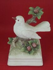 Gorham Japan Music Box Figurine White Bird Dove on Tree Branch