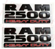 2pcs 2015-2019 DODGE RAM 2500 HEAVY DUTY EMBLEM NAMEPLATE BADGE (MATTE BLACK)
