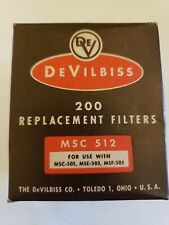 Vintage Devilbiss replacement filters For Use with Msc 512. Almost a full box.