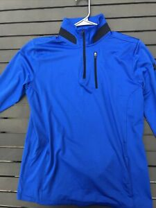 Under Armor Youth XL Loose Pullover 1/4 Zip - Blue Excellent Condition!