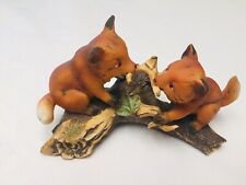 New ListingRed Fox Playing On Log Porcelain Figurine Homco Home Interior