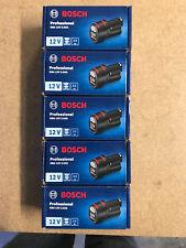 5 X ORIGINAL Akku Bosch 12 Volt Li-ION, 2,0 Ah  Nachf.10,8 V----OVP im Karton