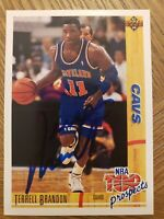 1991/92 Upper Deck #441 Terrell Brandon Cavs Signed on card Auto!
